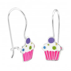 Cupcake - 925 Sterling Silver Earrings for Children A4S28665