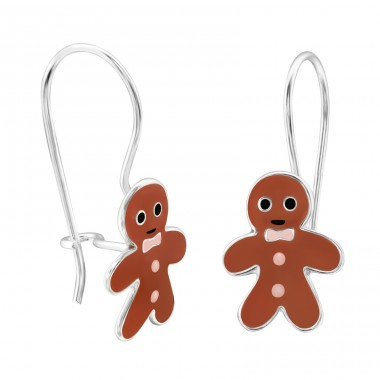 Gingerbread - 925 Sterling Silver Earrings for Children A4S28666