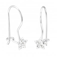 Star - 925 Sterling Silver Earrings for Children A4S28668