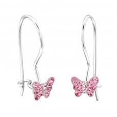 Butterfly - 925 Sterling Silver Earrings for Children A4S28669