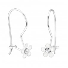Flower - 925 Sterling Silver Earrings for Children A4S28670