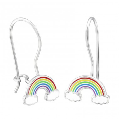 Rainbow - 925 Sterling Silver Earrings for Children A4S28673