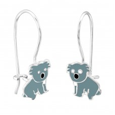 Koala - 925 Sterling Silver Earrings for Children A4S28674