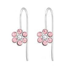 Flower - 925 Sterling Silver Earrings for Children A4S30209