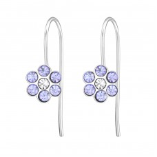 Flower - 925 Sterling Silver Earrings for Children A4S30210