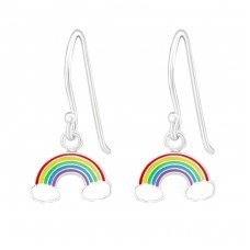 Rainbow - 925 Sterling Silver Earrings for Children A4S30321