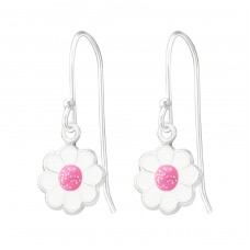 Flower - 925 Sterling Silver Earrings and Ear hoops A4S37591