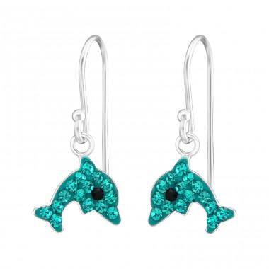 Dolphin - 925 Sterling Silver Earrings for Children A4S38121