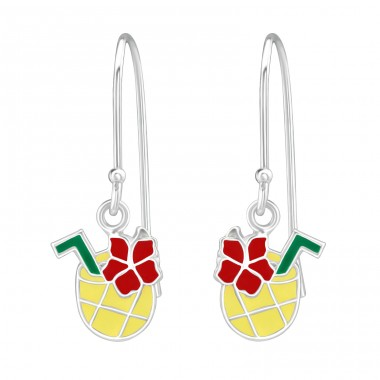 Pineapple Juice - 925 Sterling Silver Earrings for Children A4S38630