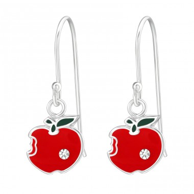 Apple - 925 Sterling Silver Earrings for Children A4S38631