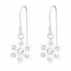 Snowflake - 925 Sterling Silver Earrings for Children A4S38633