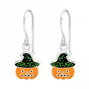 Pumpkin - 925 Sterling Silver Earrings for Children A4S38691