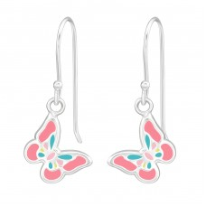 Butterfly - 925 Sterling Silver Earrings for Children A4S39294