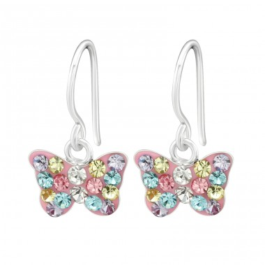 Butterfly - 925 Sterling Silver Earrings for Children A4S40263