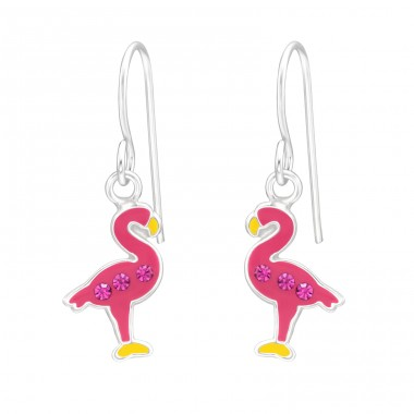 Flamingo - 925 Sterling Silver Earrings for Children A4S41487