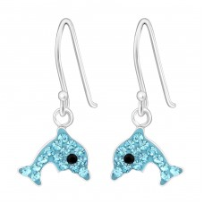 Dolphin - 925 Sterling Silver Earrings for Children A4S4383