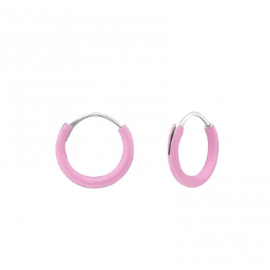 Classic - 925 Sterling Silver Children Hoops A4S16302