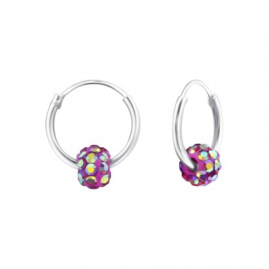 Round - 925 Sterling Silver Children Hoops A4S24233