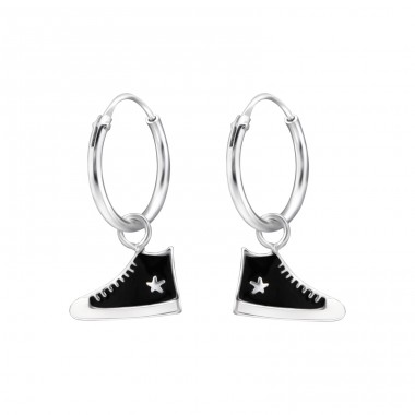 Sneaker - 925 Sterling Silver Children Hoops A4S28028