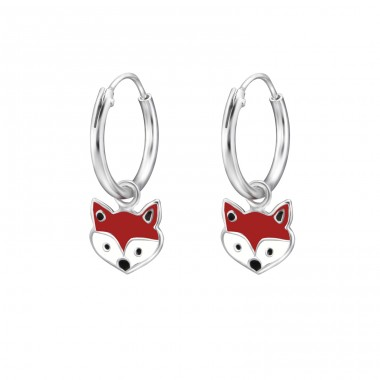 Fox - 925 Sterling Silver Children Hoops A4S28050