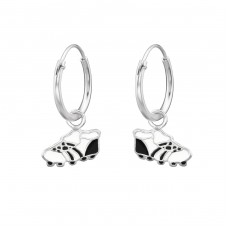 Football Boots - 925 Sterling Silver Children Hoops A4S28639