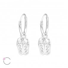 Ballerina Shoes - 925 Sterling Silver Children Hoops A4S32873