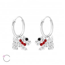 Dog - 925 Sterling Silver Children Hoops A4S32880