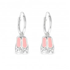 Ballerina Shoes - 925 Sterling Silver Children Hoops A4S33141