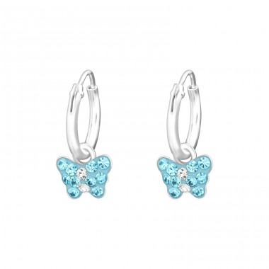 Butterfly - 925 Sterling Silver Earrings And Ear Hoops A4S33950