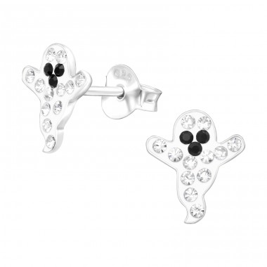 Ghost - 925 Sterling Silver Ear studs with stones A4S42039