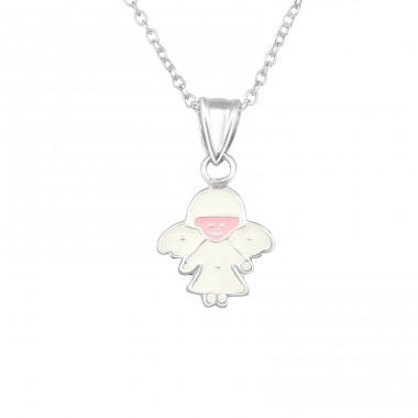 Angel - 925 Sterling Silver Necklaces with silver chains A4S20339