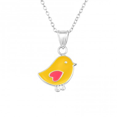 Chicken - 925 Sterling Silver Necklaces with silver chains A4S20341