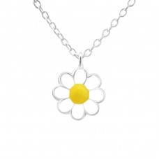 Flower - 925 Sterling Silver Necklaces with silver chains A4S20346