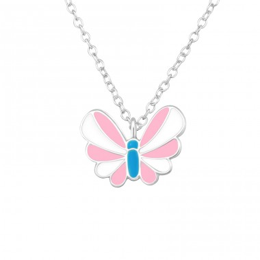 Butterfly - 925 Sterling Silver Necklaces with silver chains A4S20360