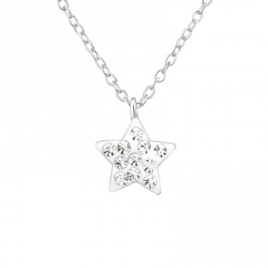 Star - 925 Sterling Silver Necklaces with silver chains A4S21929