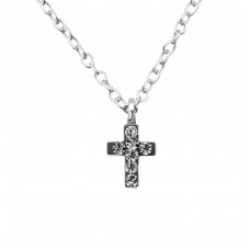 Cross - 925 Sterling Silver Necklaces with silver chains A4S22112