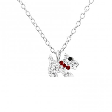 Dog - 925 Sterling Silver Necklaces with silver chains A4S22322