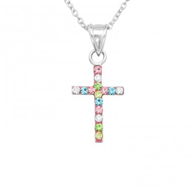 Cross - 925 Sterling Silver Necklaces with silver chains A4S22519