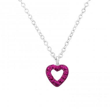 Heart - 925 Sterling Silver Necklaces with silver chains A4S24741