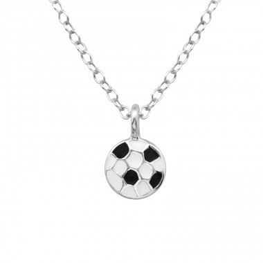 Football - 925 Sterling Silver Necklaces with silver chains A4S24895