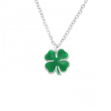 Clover - 925 Sterling Silver Necklaces with silver chains A4S25054