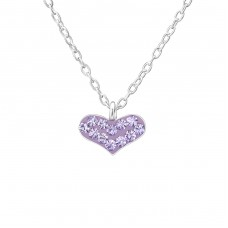 Heart - 925 Sterling Silver Necklaces with silver chains A4S26361