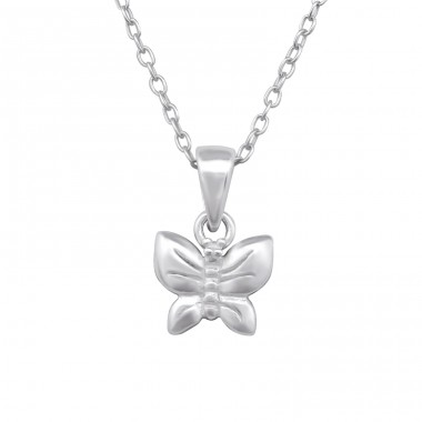 Butterfly - 925 Sterling Silver Necklaces with silver chains A4S28733