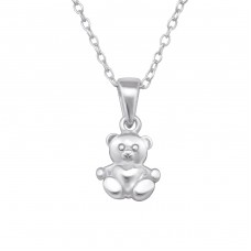 Bear - 925 Sterling Silver Necklaces with silver chains A4S28736