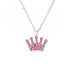 Crown - 925 Sterling Silver Necklaces with silver chains A4S29856