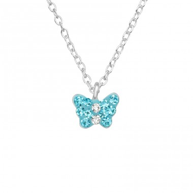 Butterfly - 925 Sterling Silver Necklaces with silver chains A4S29868