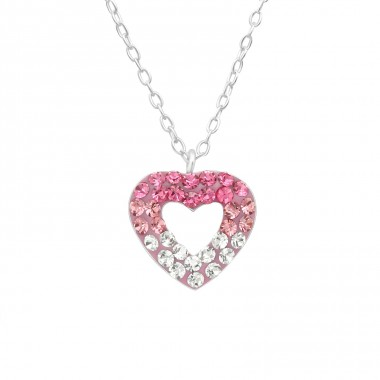 Heart - 925 Sterling Silver Necklaces with silver chains A4S29872