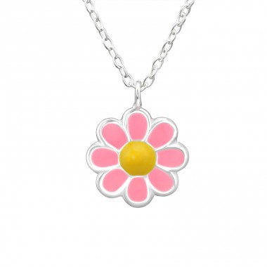 Flower - 925 Sterling Silver Necklaces with silver chains A4S31090