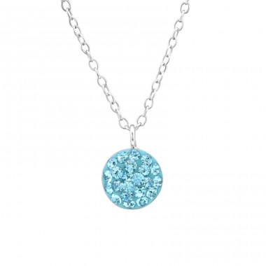 Round - 925 Sterling Silver Necklaces with silver chains A4S32032