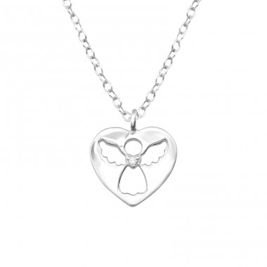 Angle - 925 Sterling Silver Necklaces with silver chains A4S32079